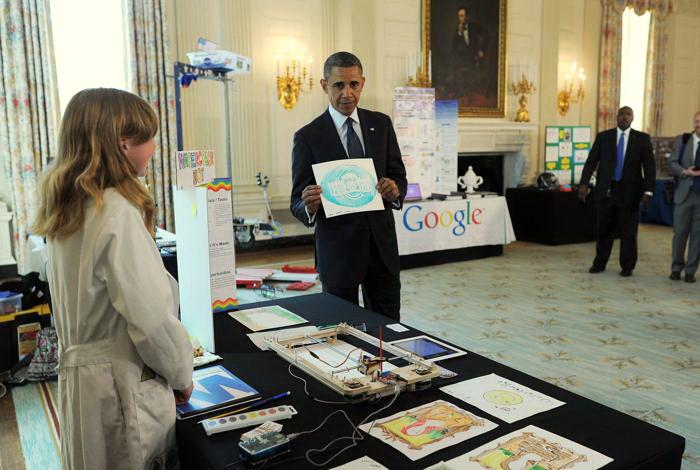 200 230413Obama 07 - Научная ярмарка прошла в Белом доме