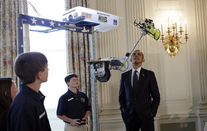 200 230413Obama 09 - Научная ярмарка прошла в Белом доме