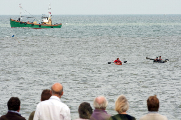 Фоторепортаж о встрече принца Гарри с членами команды Kayak в Саффолке