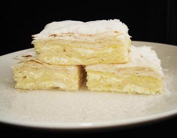 173 Sweet cheese pie Anca Hubert - Квадратные тортики с творожной начинкой
