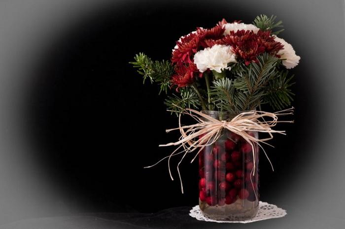Простой способ изготовления праздничных икебан