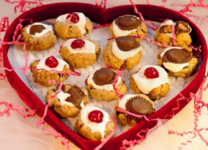 Овсяное печенье ко дню Святого Валентина