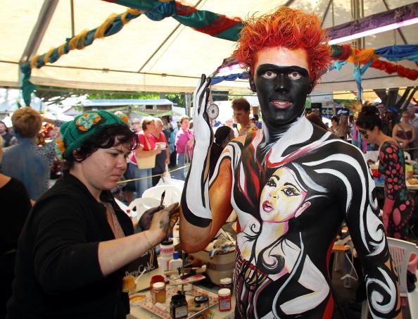 Карнавал Боди-арт на Солнечном побережье Австралии. Фоторепортаж