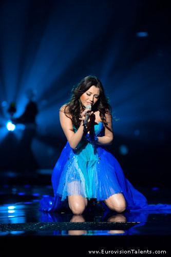 «Евровидение-2010». Сафура Ализаде на финальной репетиции. Фоторепортаж