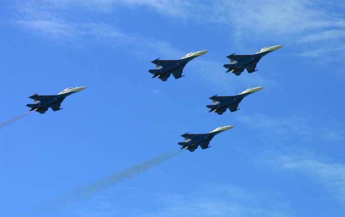 Новейший истребитель Су-30СМ успешно совершил первый полёт