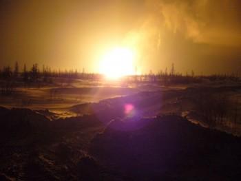 В Якутии произошел взрыв магистрального газопровода