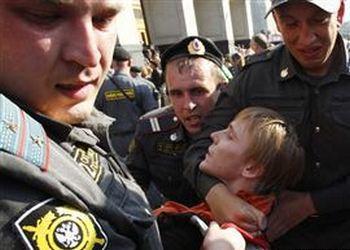 """161 31K44 - """"Стратегия-31"""". Защитников 31-й статьи Конституции  России разогнали самым жестоким образом"""