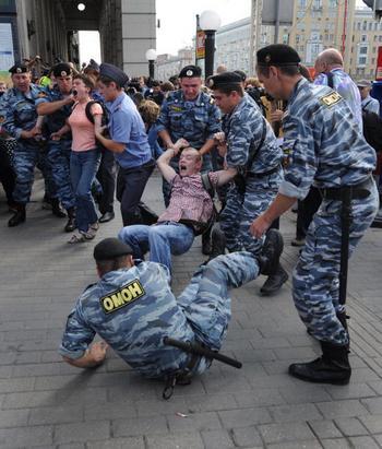 """""""Стратегия-31"""".  На Триумфальной площади проводятся две акции"""
