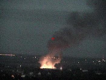 Сильный пожар в Раменском районе Подмосковья