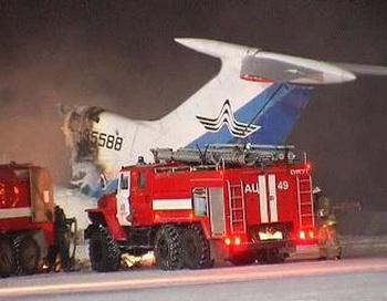 В аэропорту Сургута взорвался самолет ТУ-154