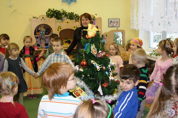 Детские колядки в московском детсаду