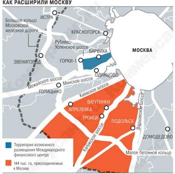 Территория Москвы увеличилась с 1 июля