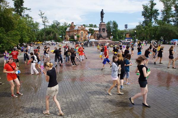 Водная битва «Wet War - 3» состоялась в Иркутске