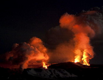 Вулканический пепел из Исландии в воскресенье накроет значительную часть России