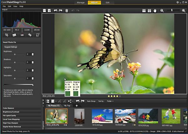 Обзор: Corel PaintShop Pro X4