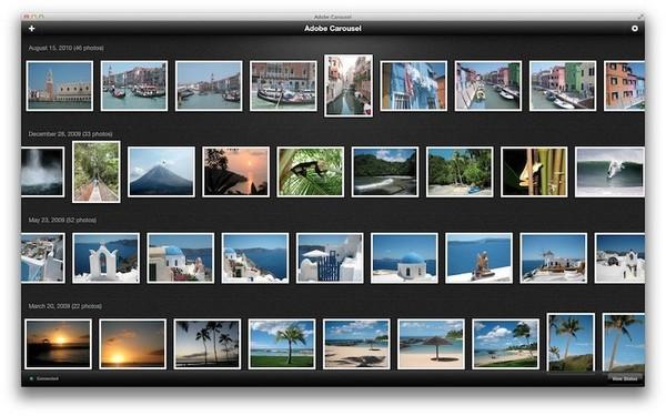 Adobe Carousel: социальный «облачный» Photoshop