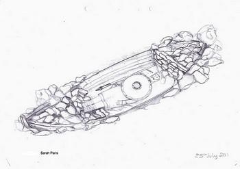 115 sitedrawing - В Шотландии найдено древнее захоронение викинга в лодке