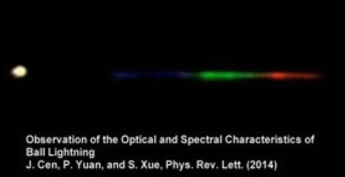 Шаровую молнию впервые исследовали с помощью спектрографа