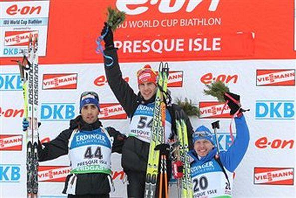 Иван Черезов завоевал «бронзу» в спринте на этапе Кубка мира по биатлону в Преск-Айле
