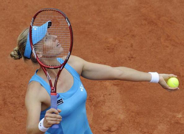 Елена  Дементьева  в полуфинале «Ролан Гарроса». Фоторепортаж