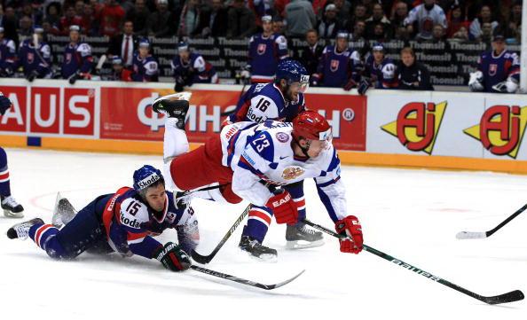 Россия стартовала на  ЧМ-2010 с победой над Словакией. Фоторепортаж