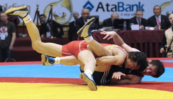163 150410 01 VB - Сборная России по вольной борьбе выиграла чемпионат Европы в Баку. Фоторепортаж