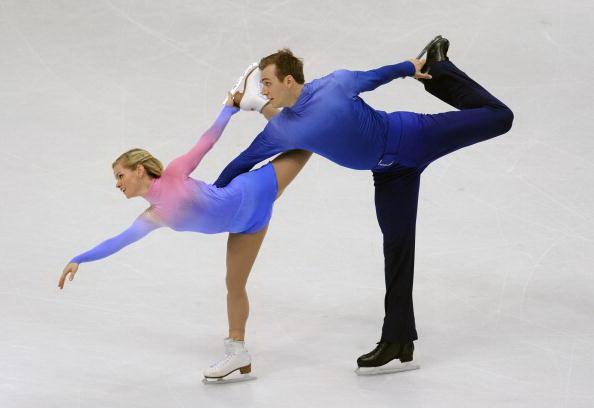 Юко Кавагути и Александр Смирнов стали бронзовыми призерами ЧМ по фигурному катанию в Турине. Фото