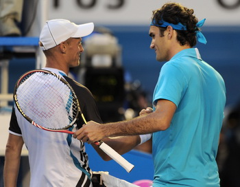 163 270110 BTdavFed - Давыденко четвертьфинале проиграл Федереру на Australian Open