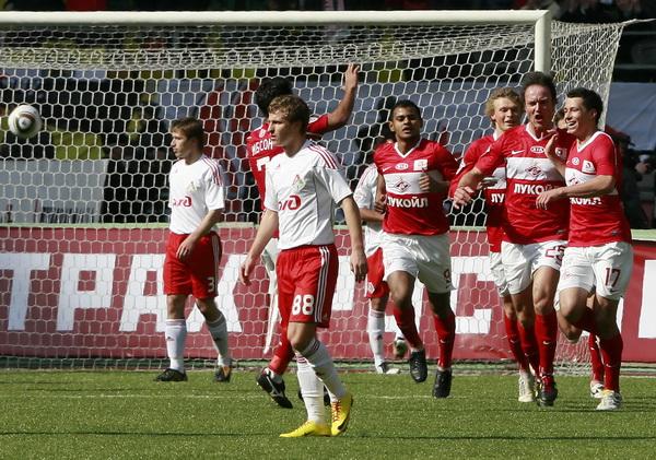 «Спартак» одержал первую победу в матче 3-го тура чемпионата России. Фото
