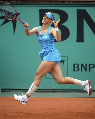 Дементьева без проблем вышла в четвертьфинал «Ролан Гарроса». Фоторепортаж