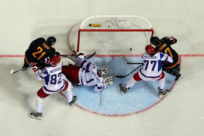 Россияне обыграли Германию на чемпионате мира по хоккею