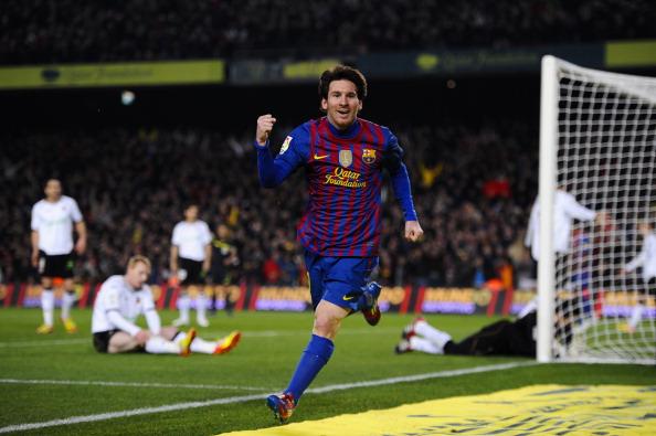 «Барселона» выиграла у «Валенсии» благодаря покеру Месси. Фоторепортаж и видео с матча