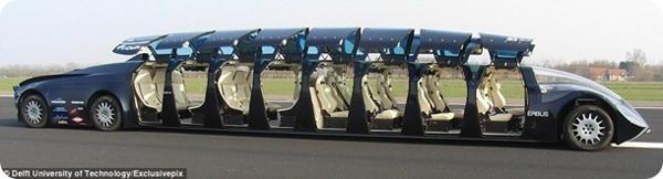 Роскошный супер автобус-лимузин арабского шейха