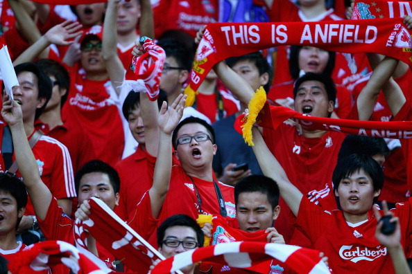 Фоторепортаж и видео с товарищеского матча Ливерпуль  -  Гуандун