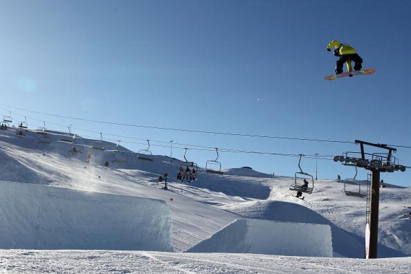 Фоторепортаж с соревнований по сноуборду Slopestyle на  Зимних играх в Новой Зеландии