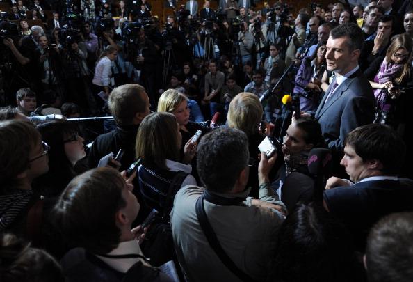 Алла Пугачева вместе с Михаилом Прохоровым выступила на съезде партии «Правое дело»