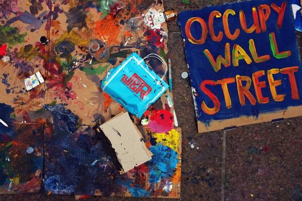 161 92611NY 04 - Фоторепортаж о демонстрантах на Уолл-стрит в Нью-Йорке
