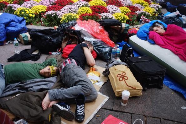 161 92611NY 09 - Фоторепортаж о демонстрантах на Уолл-стрит в Нью-Йорке
