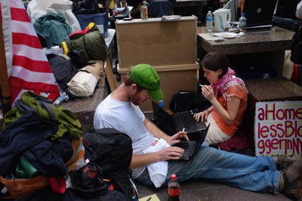 161 92611NY 10 - Фоторепортаж о демонстрантах на Уолл-стрит в Нью-Йорке
