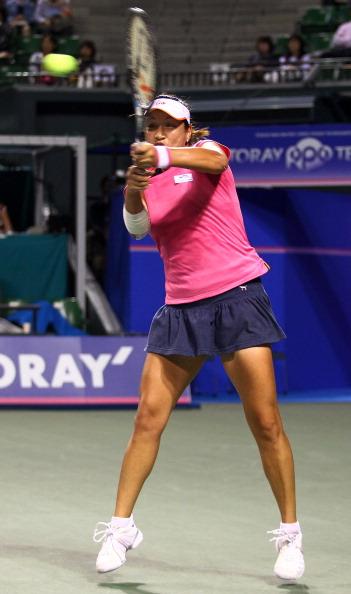 Мария Шарапова победила таиландку Тамарин Танасугарн.  Фоторепортаж  с теннисного турнира в Токио