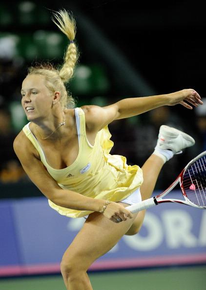 Каролин Возняцки обыграла  Ярмилу Гайдосову.  Фоторепортаж  с теннисного турнира в Токио