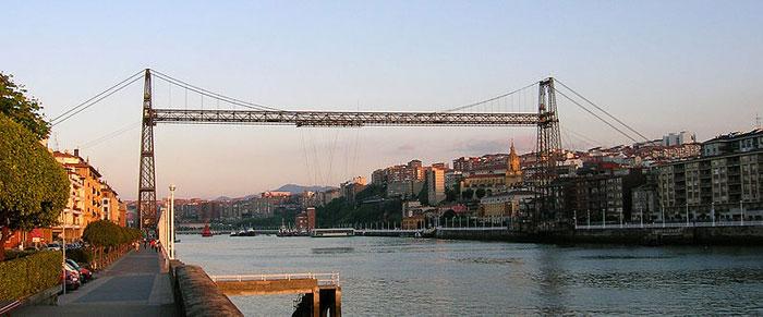 Летающий мост в испанской Стране Басков