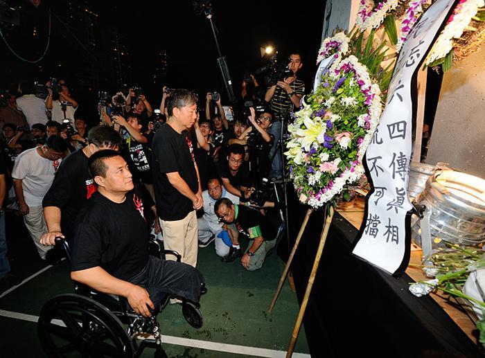 161 June 4 Tiananmen 05 - Фоторепортаж об акции с зажжёнными свечами в Гонконге памяти событий «4 июня»