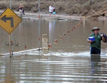 Австралию затопило