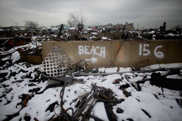Шторм «Афина» обрушился на Нью-Йорк