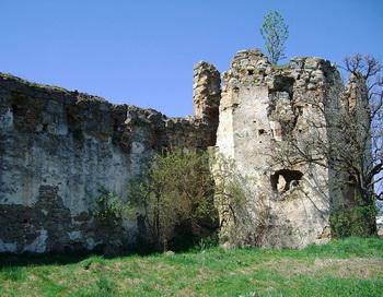 173 Pniv Zamok - В Прикарпатье дождями смыло башню древнего замка