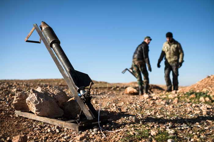 Сирийские боевики запустили ракету с химвеществом