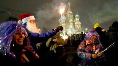 Новый год на улицах Москвы встретили 250 тысяч человек