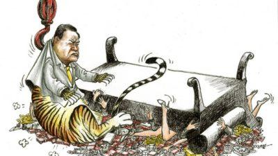 Коррупция в Китае является обвальной