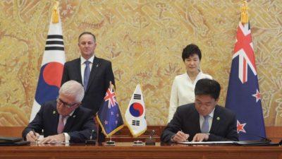 Новая Зеландия и Южная Корея договорились о свободной торговле (видео)